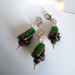 Christmas tree glass stitch marker