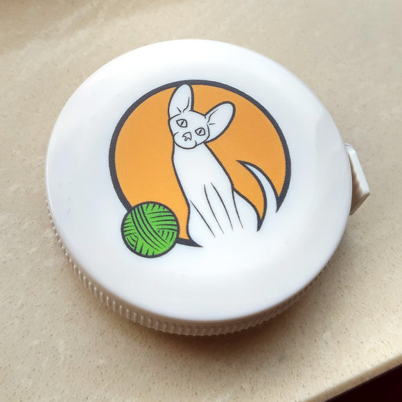 Colourful cat logo measuring tape
