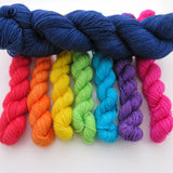 Rainbow Bright -  Colourful Smooth Sock Kitten Set