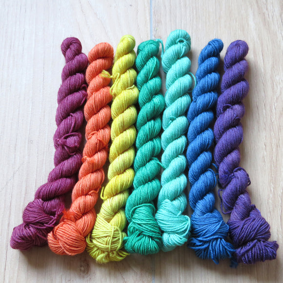 Rainbow but darker -  Colourful Smooth Sock Kitten Set