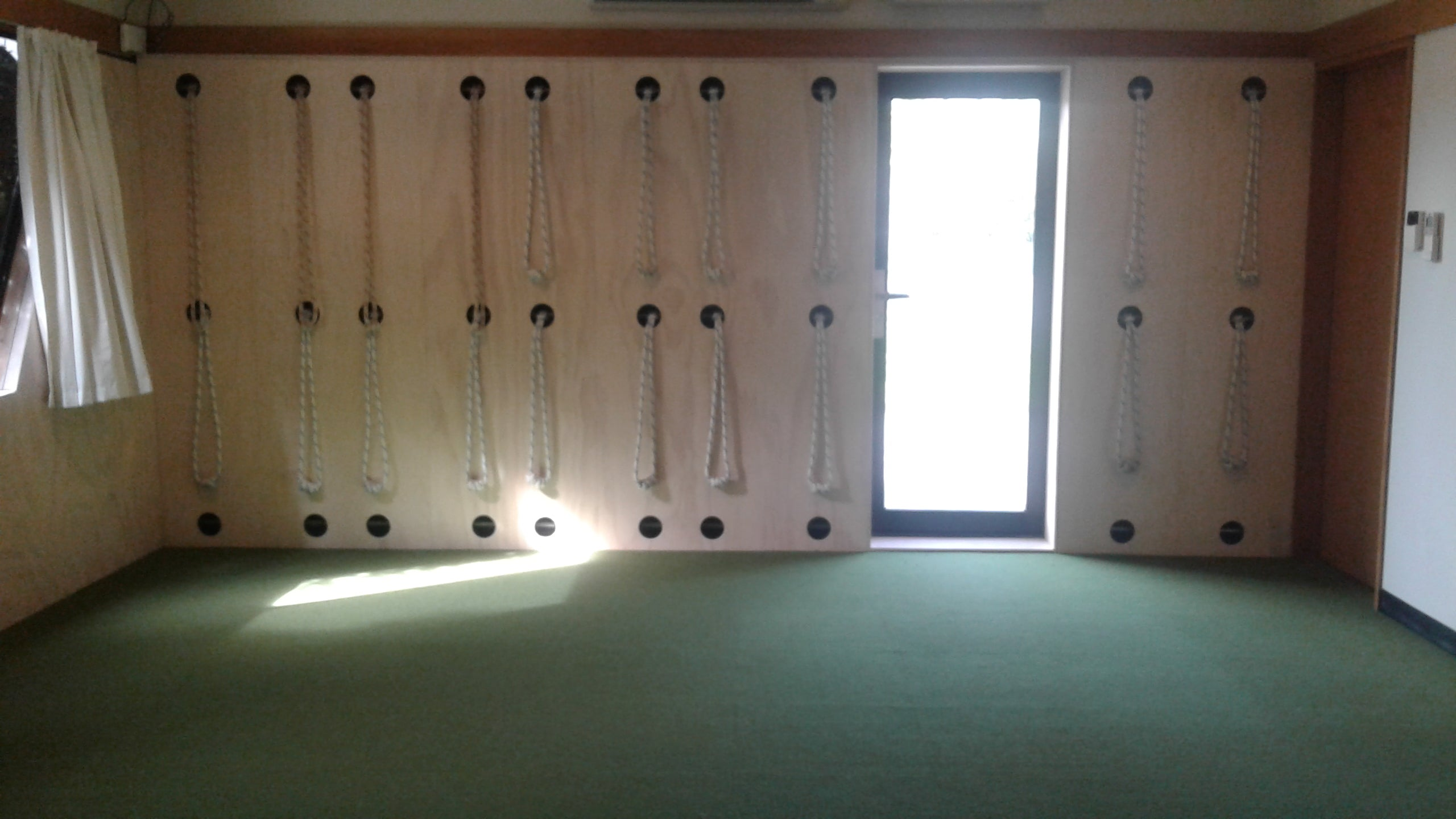 yogabase interior rope wall plywood finish