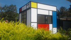 Mondrian home office plain and simple