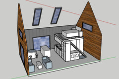 50m2 concept house open view designed by plain and simple nz