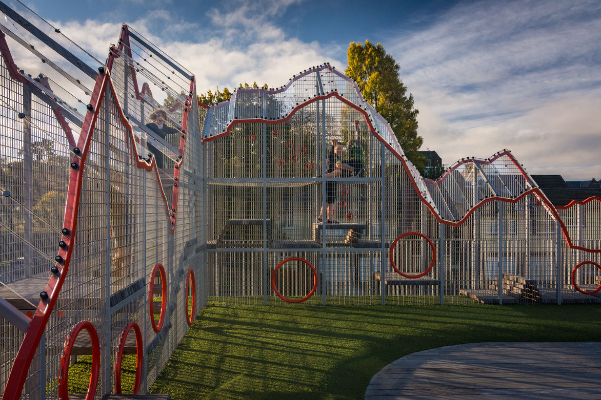 cathedral grammar sky playground designed by F3 Design