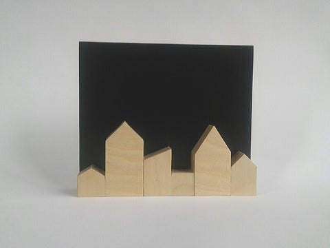 Zero Waste Black Skyline in Plywood