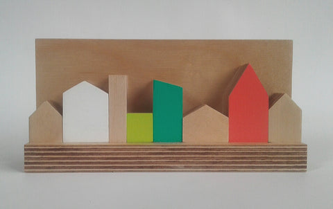 Zero Waste Multi Coloured Skyline in Plywood