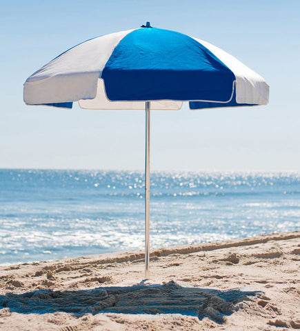 6.5 ft Sunbrella Beach Umbrella at the beach