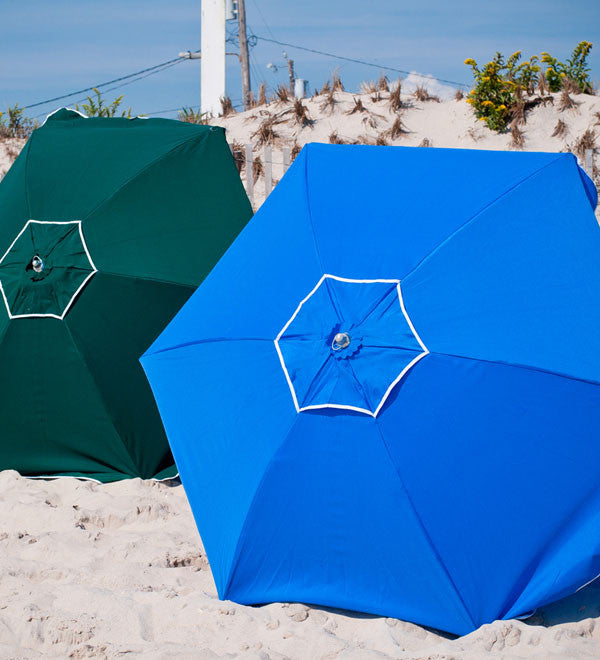 6.5 ft Shade Star Beach Umbrella - Wood - with Carry Bag