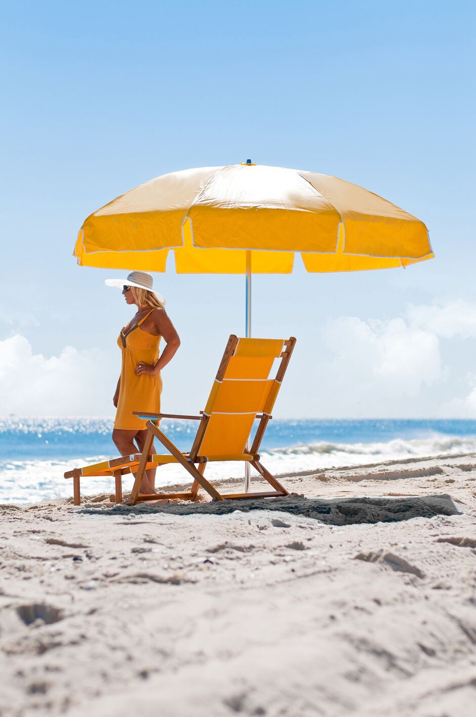 Yellow Vinyl on beach