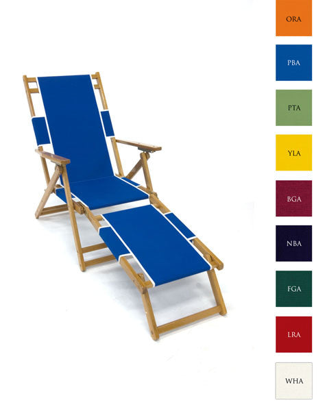 Oak Wood beach chair lounger in 9 colors