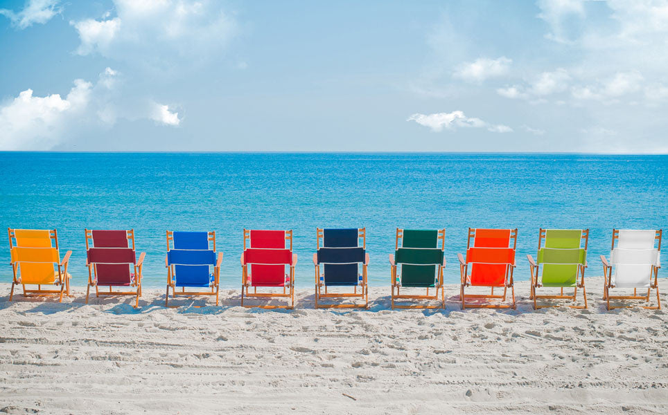 9 Colors of the Oak Wood beach lounger