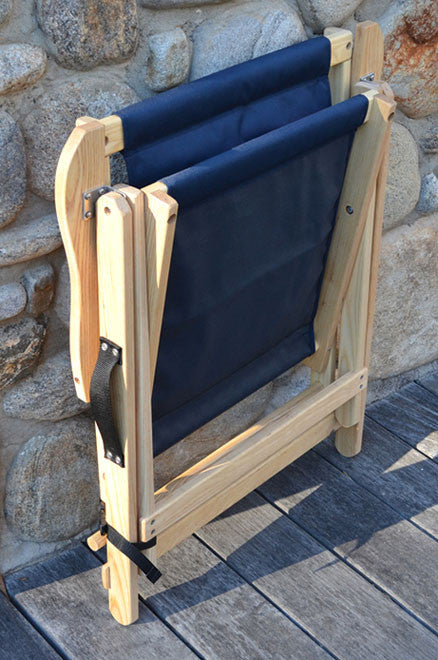 Highlands Deck Chair folded and ready to store