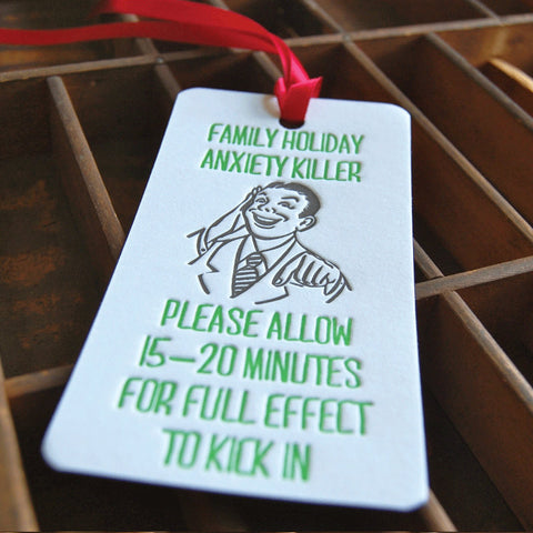 Anxiety Killer Bottle Tag
