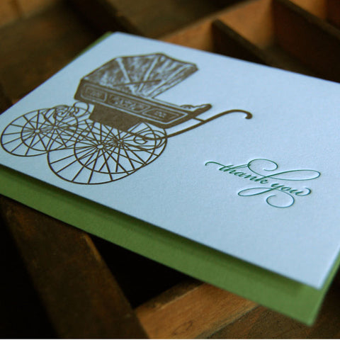 Baby Carriage Thank you SET of 6