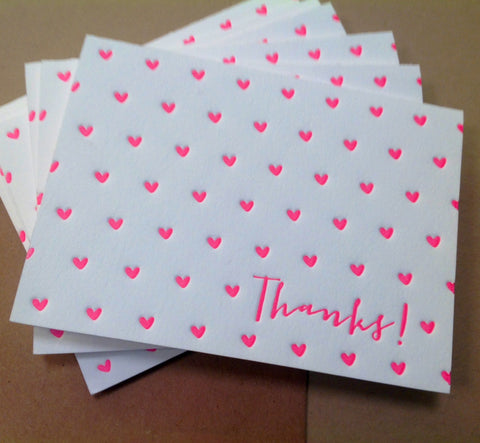 Hearts Thank You SET of 6