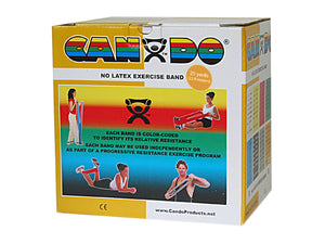 CanDo Latex Free Exercise Band - 25 yard roll - Gold - xxx-heavy - onlinesportsmall