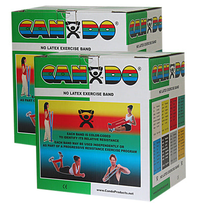 CanDo Latex Free Exercise Band - 100 yard (2 x 50 yard rolls) - Green-medium - onlinesportsmall
