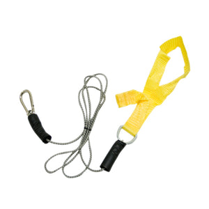 CanDo exercise bungee cord with attachments, 4', Yellow - x-light - onlinesportsmall