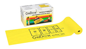 CanDo AccuForce Exercise Band - 6 yard roll - Yellow - x-light - onlinesportsmall