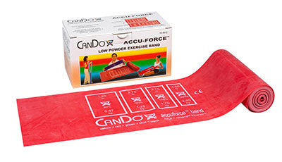 CanDo AccuForce Exercise Band - 6 yard roll - Red - light - onlinesportsmall