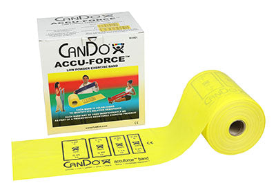 CanDo AccuForce Exercise Band - 50 yard roll - Yellow - x-light - onlinesportsmall