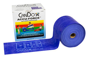 CanDo AccuForce Exercise Band - 50 yard roll - Blue - heavy - onlinesportsmall