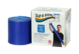 Sup-R Band Latex Free Exercise Band - 50 yard roll - Blue - heavy - onlinesportsmall