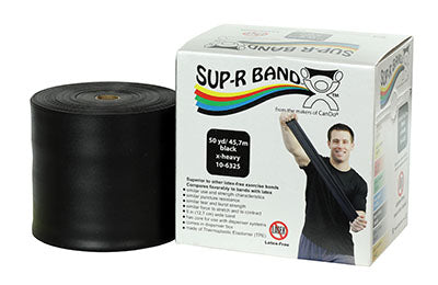 Sup-R Band Latex Free Exercise Band - 50 yard roll - Black - x-heavy - onlinesportsmall