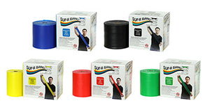 Sup-R Band Latex Free Exercise Band - 50 yard roll - 5-piece set (1 each: yellow, red, green, blue, black) - onlinesportsmall