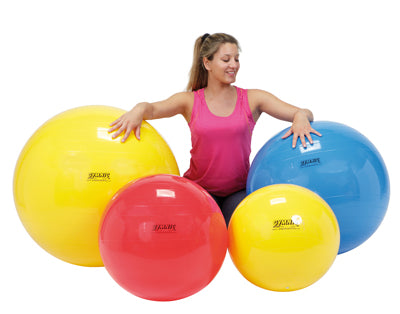 "PhysioGymnic Inflatable Exercise Ball - Red - 30"" (75 cm) - onlinesportsmall"