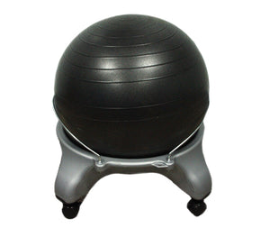 "CanDo Ball Stool - Plastic - Mobile - No Back - Adult Size - with 20"" Ball - onlinesportsmall"