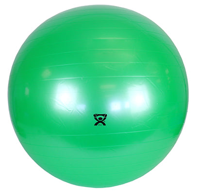 "CanDo Inflatable Exercise Ball - Extra Thick - Green - 26"" (65 cm), Retail Box - onlinesportsmall"