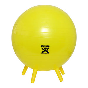 "CanDo Inflatable Exercise Ball - with Stability Feet - Yellow - 18"" (45 cm) - onlinesportsmall"