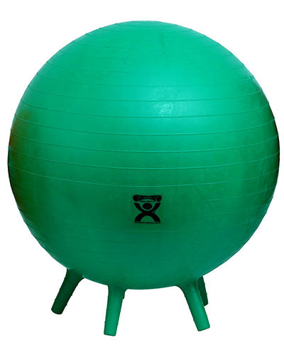 "CanDo Inflatable Exercise Ball - with Stability Feet - Green - 26"" (65 cm) - onlinesportsmall"