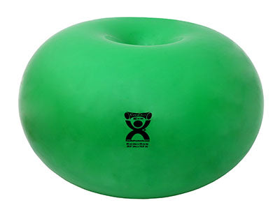 "CanDo Donut Ball - Green - 26"" Dia x 14"" H (65 cm Dia x 35 cm H) - onlinesportsmall"