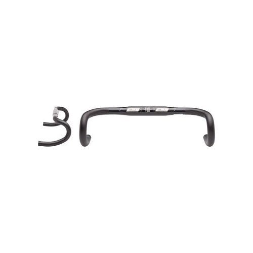 FSA Omega Compact 40cm 31.8 Round Drop Bar Black - onlinesportsmall