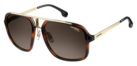 Carrera Men's Ca1004s Aviator Sunglasses HAVANA GOLD/BROWN GRADIENT 57 mm - onlinesportsmall