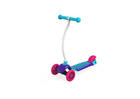 YBIKE Kids GLX Cruze 3-Wheel Kick Scooter, Raspberry