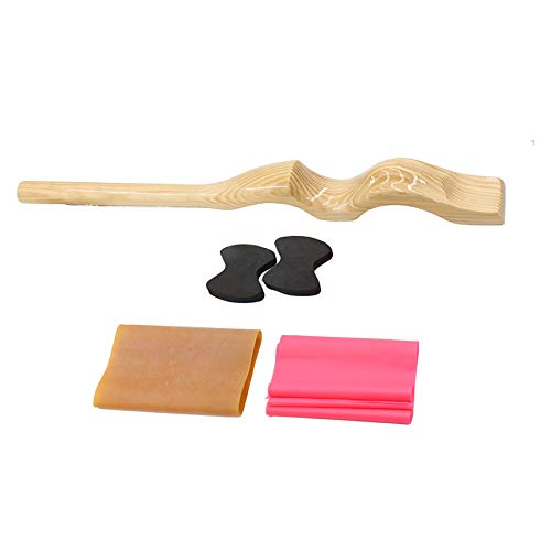 Ballet Foot Stretcher Set - Foot Stretcher for Dancers, Fine Pine Wood Foot Arch Enhancer, Elastic Stretch Band. Perfect for Ballet, Gymnasts, Cheer, Yoga. - onlinesportsmall