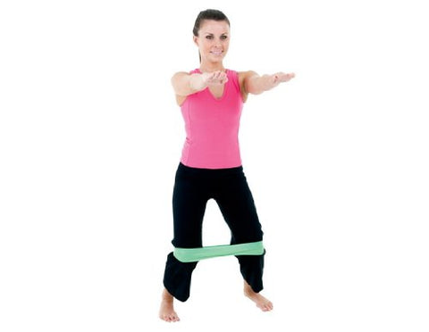 "EcoWise Resistance Stretch Band, 4 ft. x 6"" wide, Heavy Resistance - Blue - onlinesportsmall"