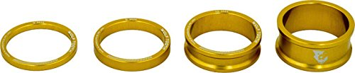 Wolf Tooth Components Headset Spacer Kit 3, 5, 10, 15mm, Gold - onlinesportsmall