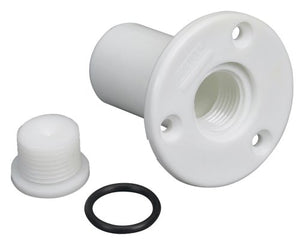 Moeller Boat Transom Drain Tube with Pipe Plug - onlinesportsmall