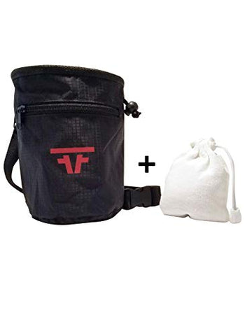 Free Face Gear Chalk Bag for Rock Climbing with Refillable Chalk Ball Included Quick-Clip Belt and Large 2 Zipper Design for Rock Climbing, Lifting, Crossfit, Gymnastics, and Bouldering - onlinesportsmall