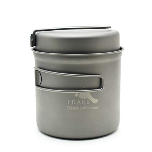 TOAKS Titanium 1100ml Pot with Pan - onlinesportsmall