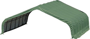 ShelterLogic Peak Style Run-In Shelter, Green, 22 x 20 x 10 ft. - onlinesportsmall