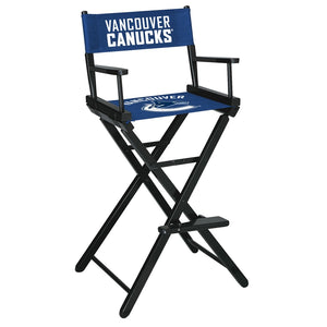 Vancouver Canucks Bar Height Directors Chair - onlinesportsmall