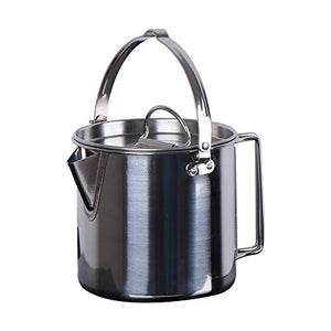 Chihee Stainless Steel Outdoor Cooking Kettle 1.2L Camping Pot for Camping Hiking Backpacking Picnic - onlinesportsmall