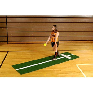 Softball Pitching Mat w/ Stride Line - onlinesportsmall