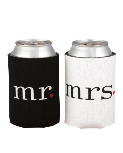 Hortense B. Hewitt Wedding Accessories Mr. and Mrs. Can Coolers Gift Set - onlinesportsmall