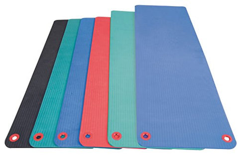 "Aeromat Elite Workout Mat w/eyelets, 1/2""x20""x48"" - Green - onlinesportsmall"